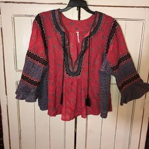Free People Anthropologie Tunic Top Shirt Small